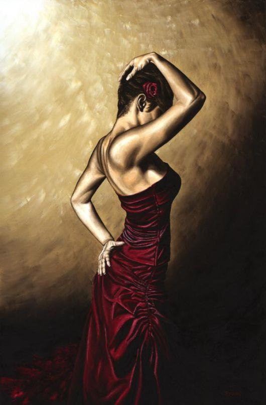 Flamenco Woman fine art dance oil painting