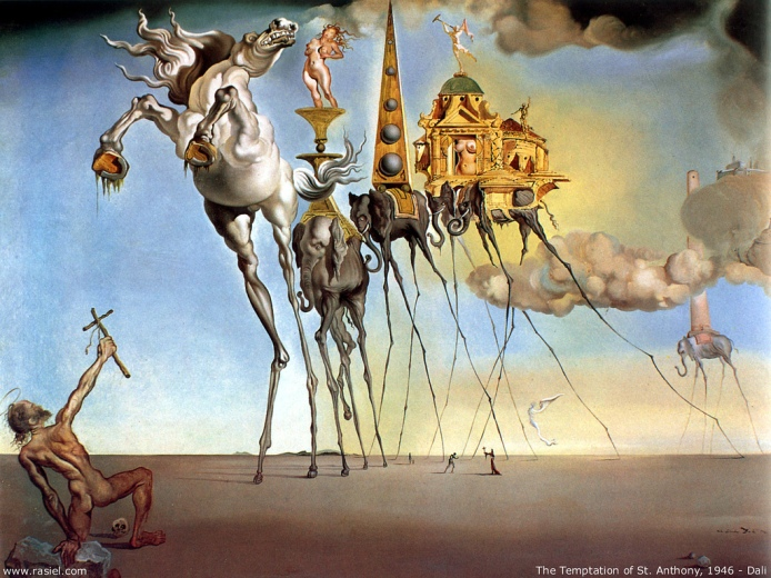 temptation of st anthony dali